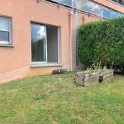 a vendre à Bonsecours résidentiel,ce T2 en rez de jardin aveccellier et parking privatif.