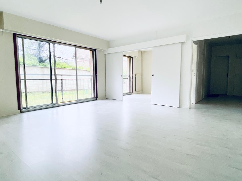 Rouen boulingrin a louer appartement T3 , 71 m2 hab avec vue sur jardin