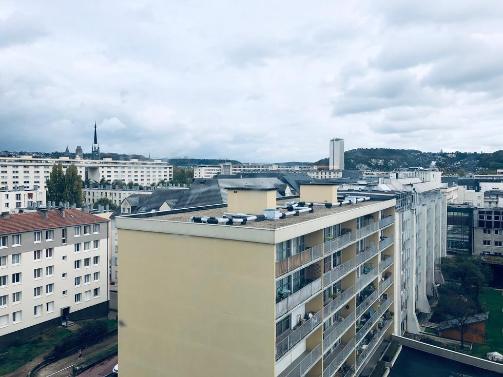 A vendre Rouen St Sever appartement T3 avec asc  vue dégagée cave et parking en sous sol.